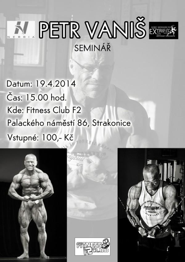 Pozvánka na seminár Petra Vaniša