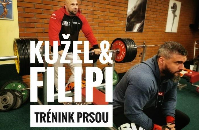 Vlastimil Kužeľ a Radko Filipi - Tréning hrudníka