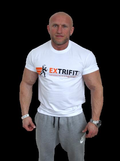 EXTRIFIT Tričko Sports Nutrition biele - nové logo