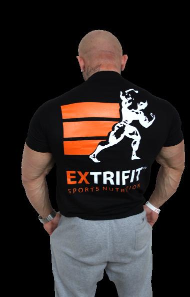 EXTRIFIT Tričko Sports Nutrition čierne - nové logo
